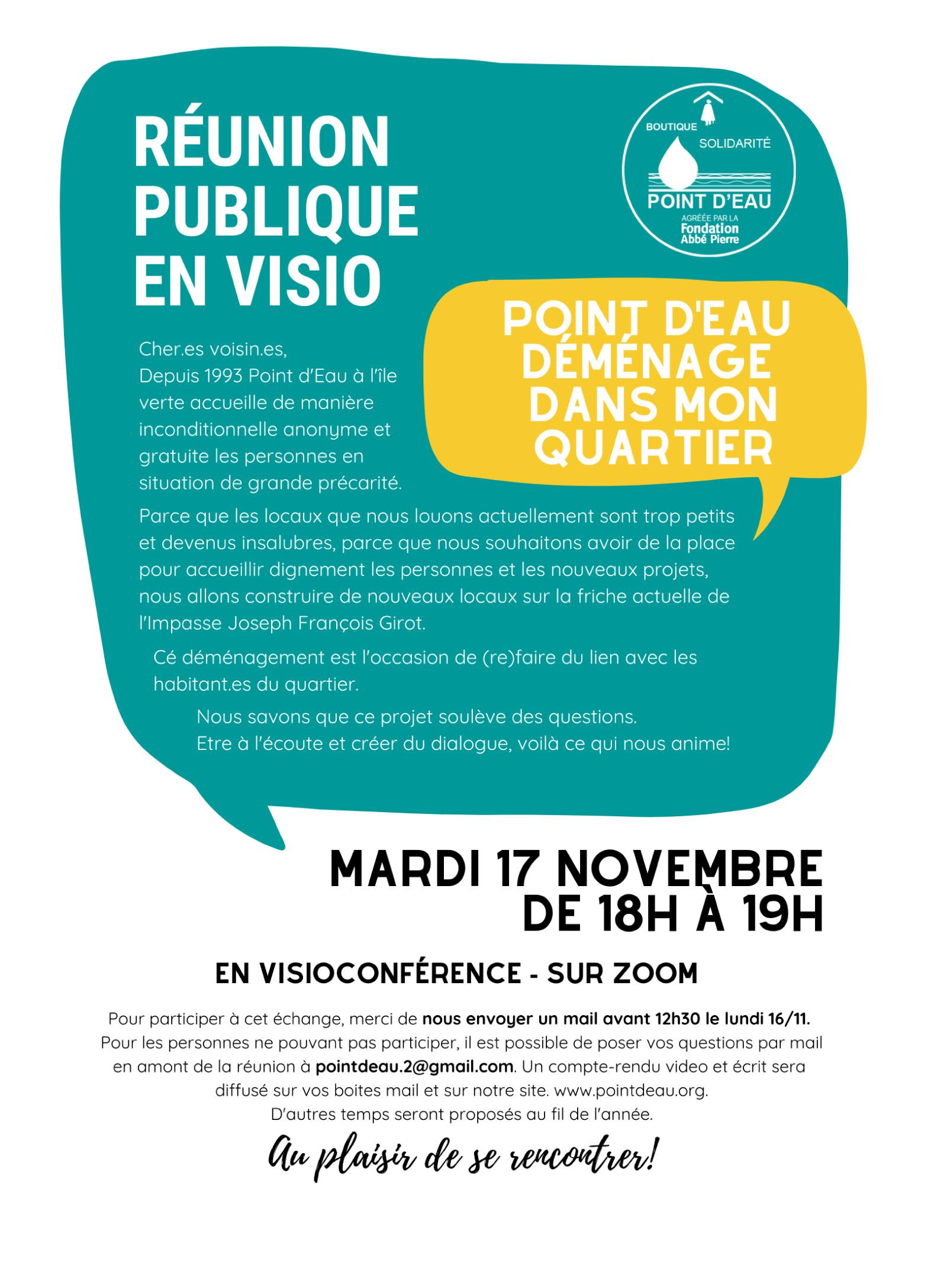 Association Point d'Eau : réunion en visioconférence